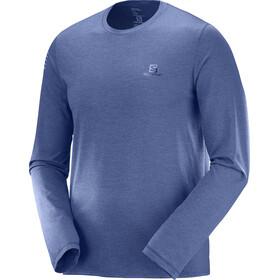 Salomon M's Pulse LS Tee Medieval Blue Heathe